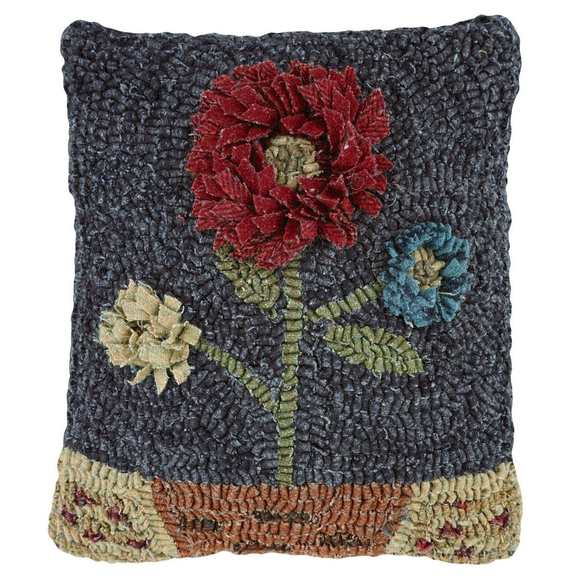 Features:  -Quality craftsmanship.  Product Type: -Throw pillow.  Color: -Multi-colored.  Style: -Country/Cottage.  Shape: -Square.  Cover Material: -Wool.  Fill Material: -Polyester/Polyfill.  Theme: