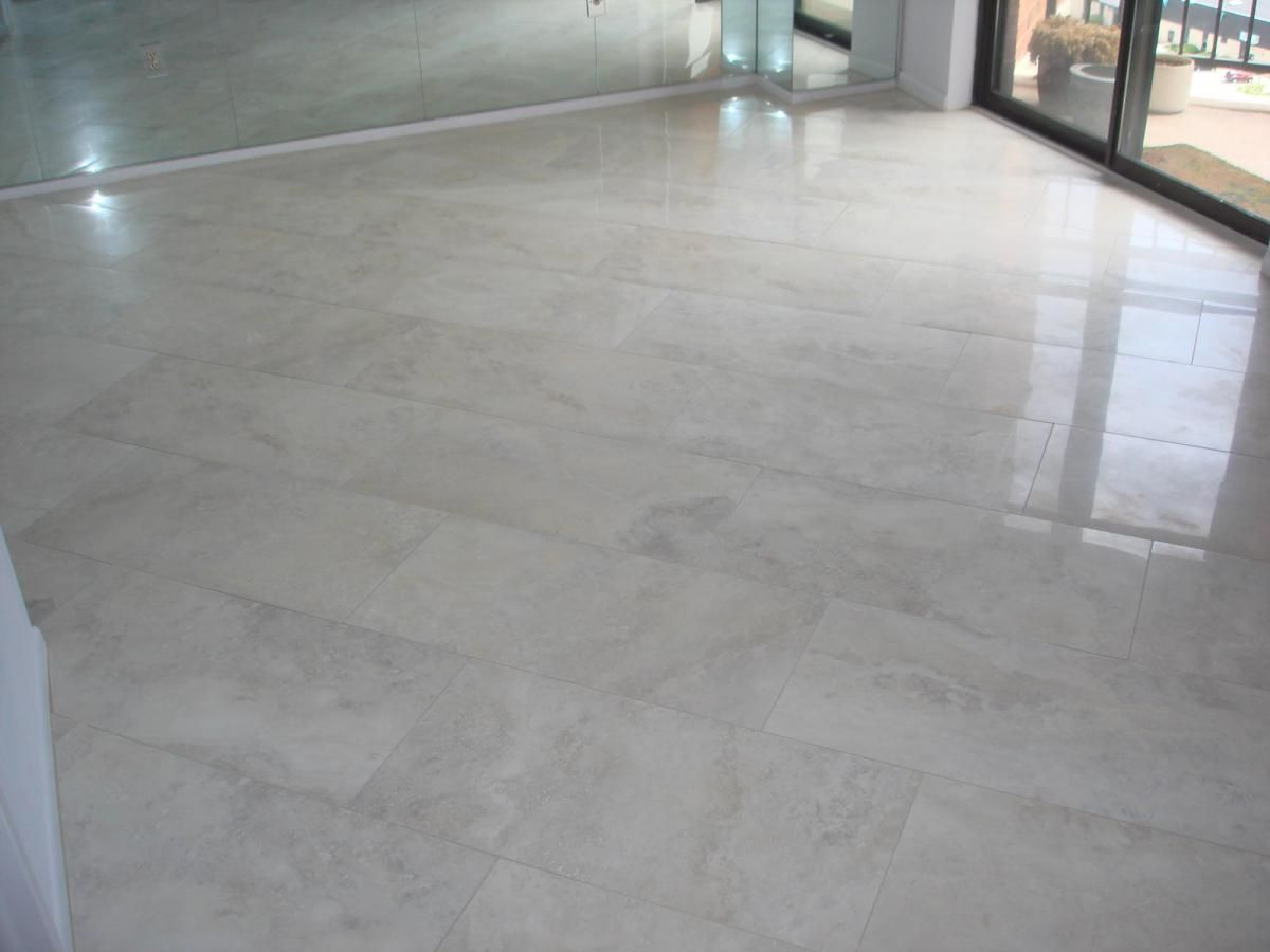 Porcelain tile floor in dining room | Diningroom floor ...