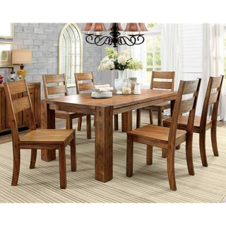 Furniture Of America Clarks Farmhouse Style 7 Piece Dining Set By
