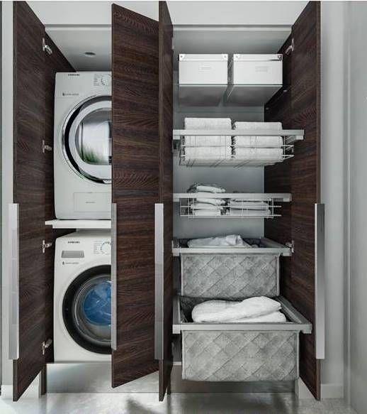 Porta lavatrice e asciugatrice ideabagno progetti da - Asciugatrice in bagno ...