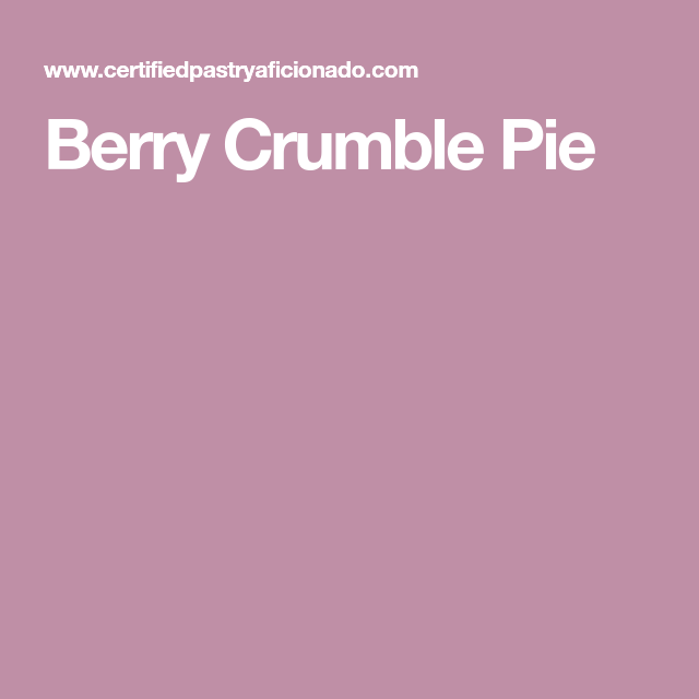 Berry Crumble Pie - Print
