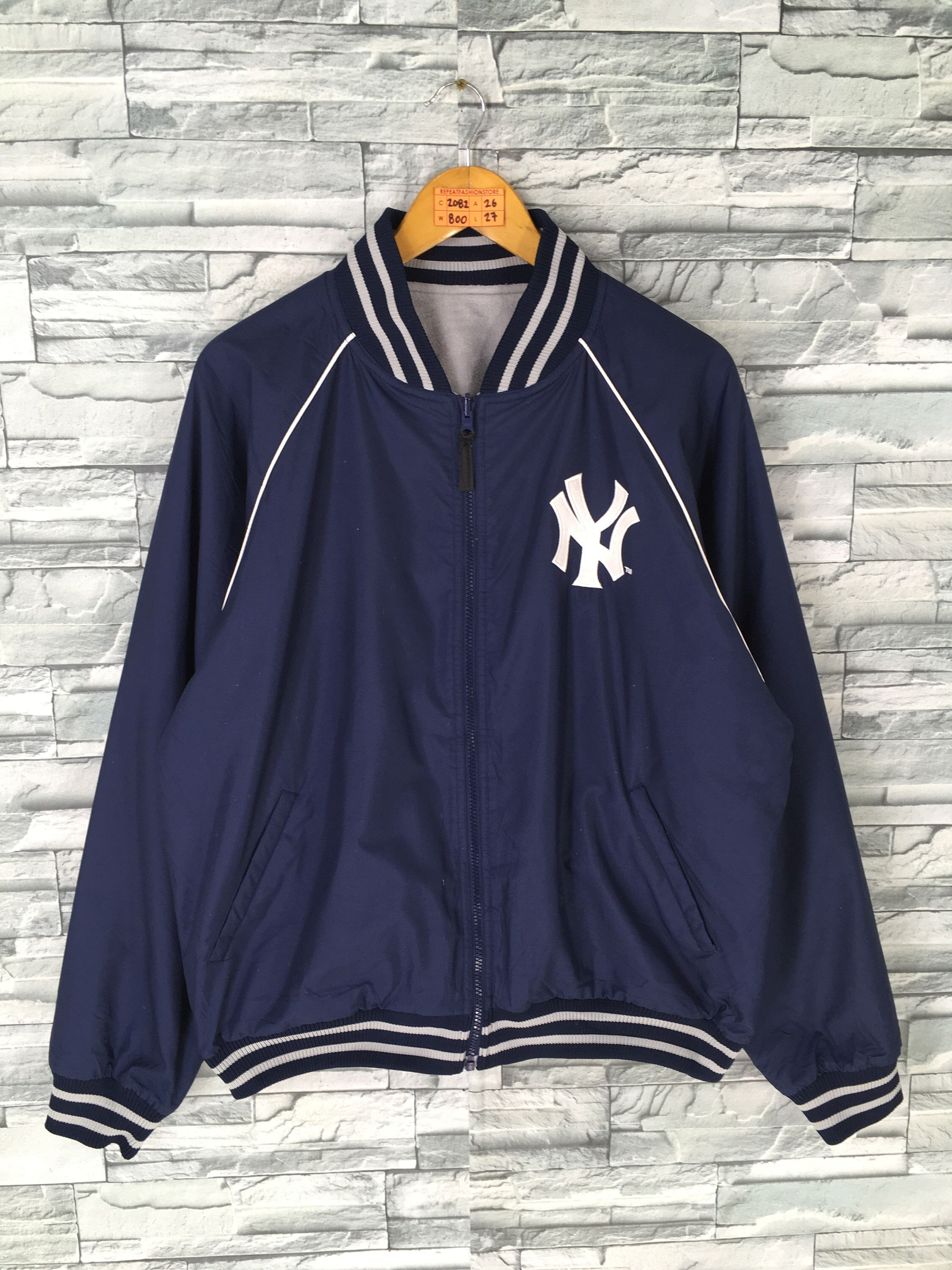 Excited To Share This Item From My Etsy Shop Ny Yankees Stadium Jacket Large Vintage Baseball Team Mlb New York Yankees Reversible Jacket Yankees Hip Hop Ligh [ 3000 x 2250 Pixel ]