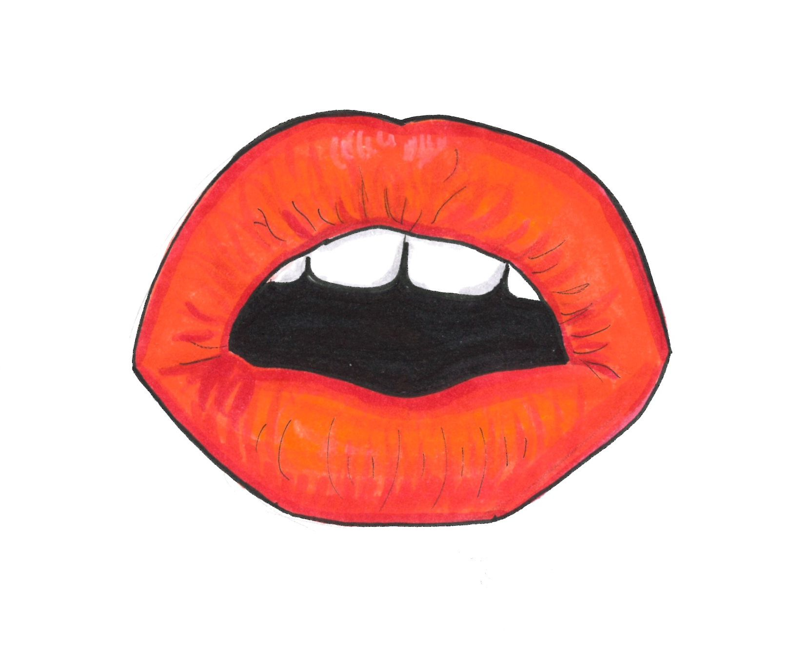 mounth sketch love mounth girl artofbea volidifantasia love