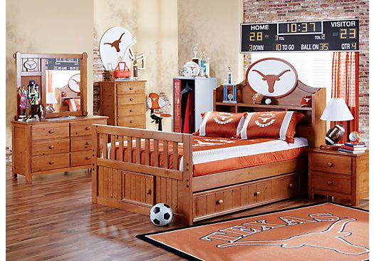 Best Shop For A Ncaa Creekside 5 Pc Full Bookcase Bedroom At 640 x 480