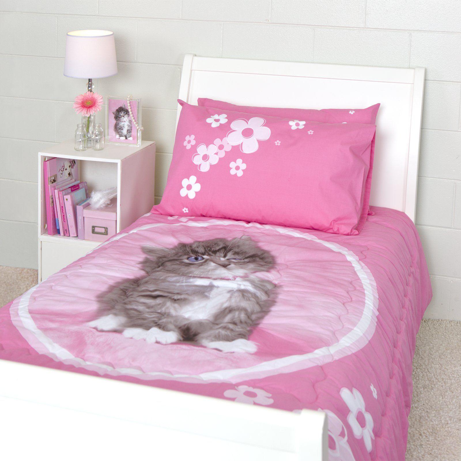 Rachael Hale So Sweet Kitten Twin Quilted Comforter Set Twin Comforter Sets Comforter Sets Quilt Comforter