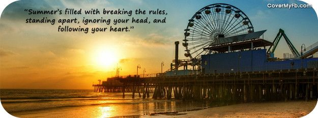 Pin by Patti Geiger on fb covers | Summer quotes, Facebook ...