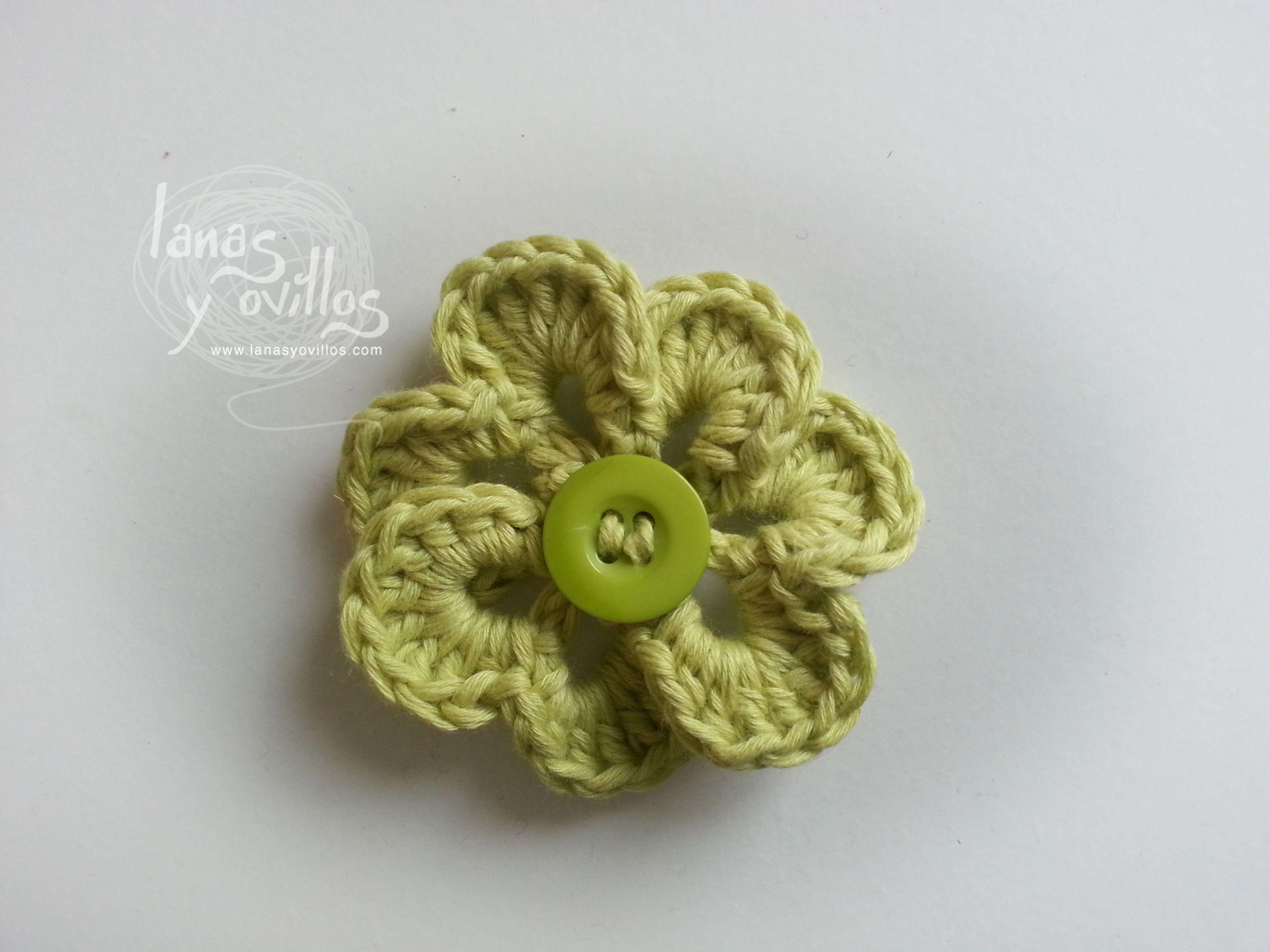 flor crochet patron gratis ganchillo | flores crochet | Pinterest ...
