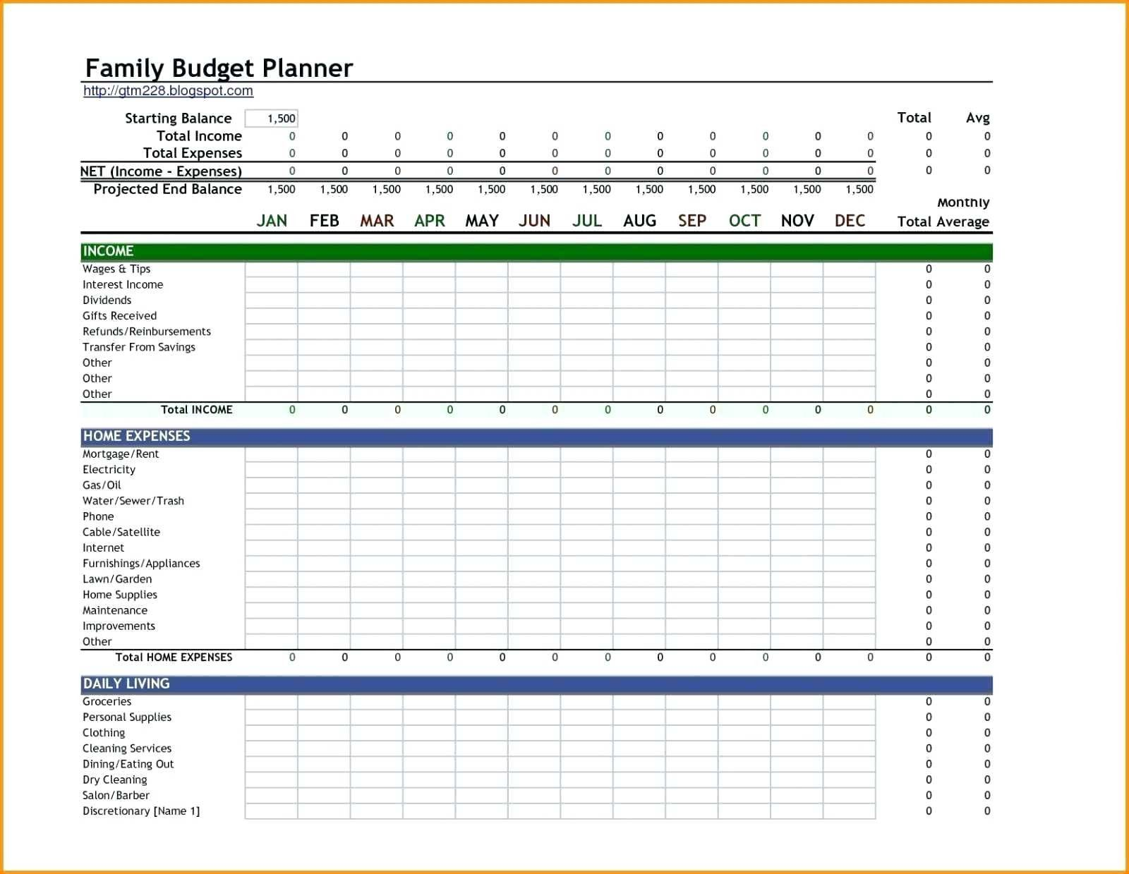 9 Best Of Monthly Household Budget Worksheet Excel Di