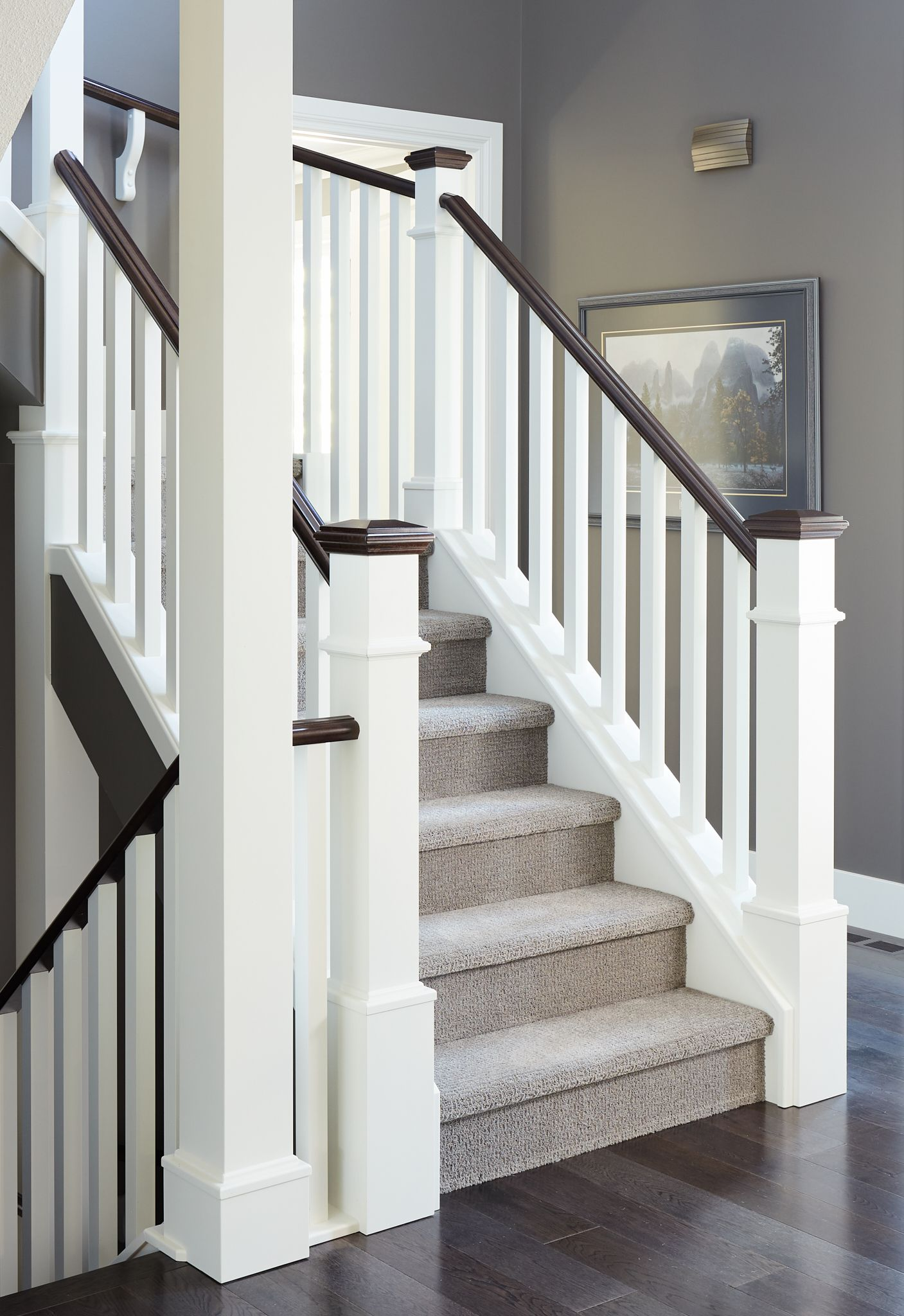 Simple Wood Post In 2020 Stair Newel Post Staircase Design Traditional Staircase