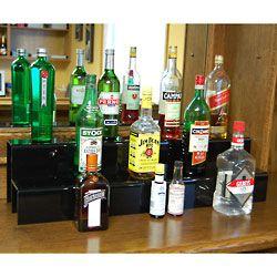 34-inch 2 Tier Liquor Bottle Shelf - Black | IDEAS FOR NEW