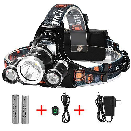 Super Bright 3 Beams 4 Modes Waterproof Led Headlamp With 2 Rechargeable 18650 Batteries Waterproof Led Led Headlamp Charger Car