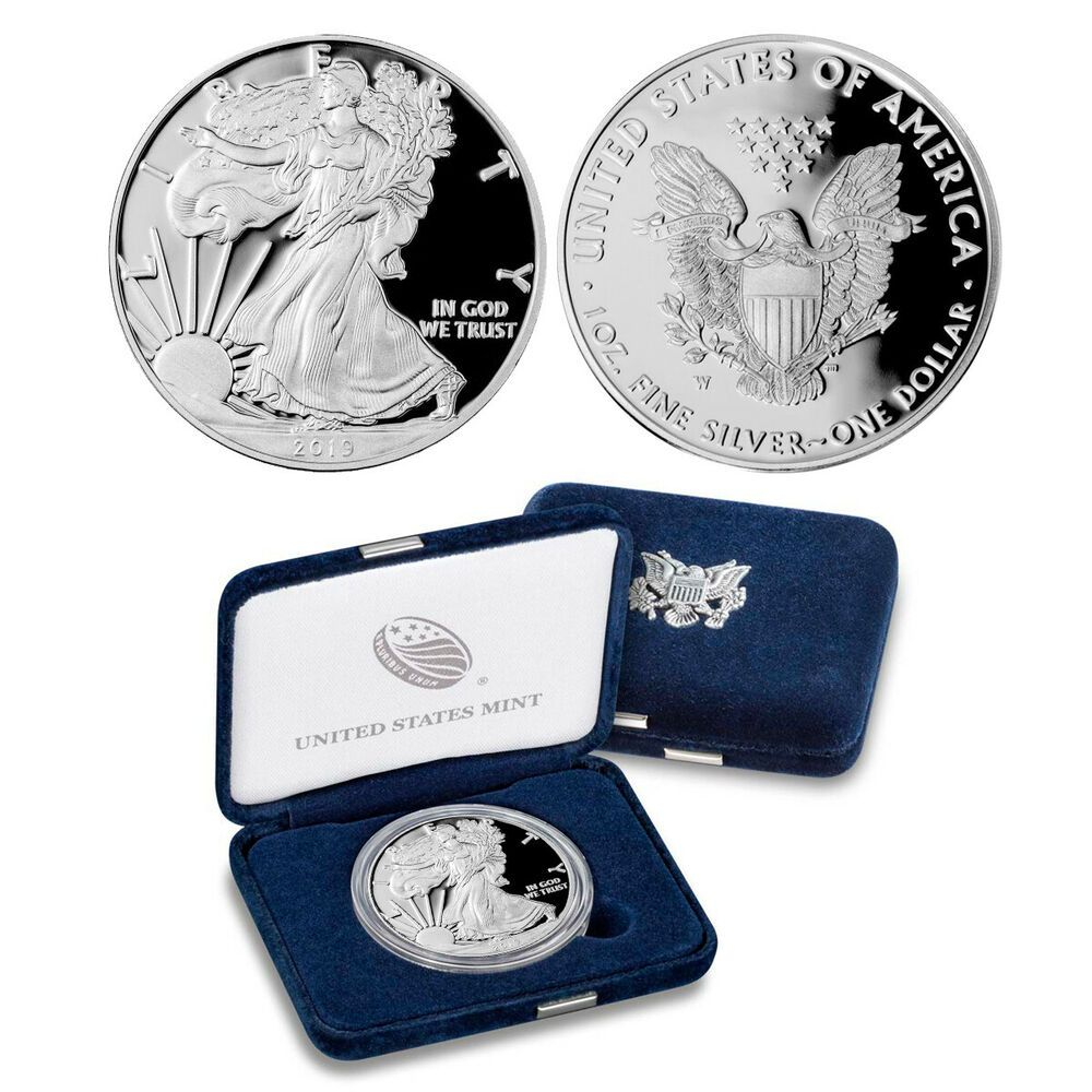 2003 W American Eagle Silver Proof Dollar Coin  $1 US PROOF w// OGP /& COA