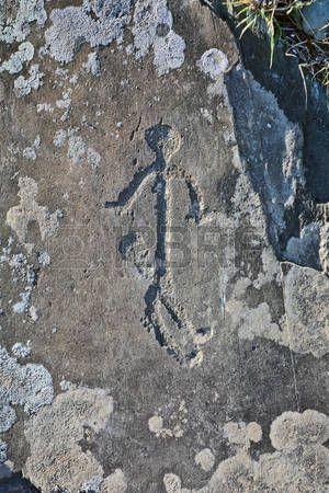 Ancient Petroglyphs Found On The Site Kalbak Tash In The Altai Mountains Fotograf Antika Fotografcilik
