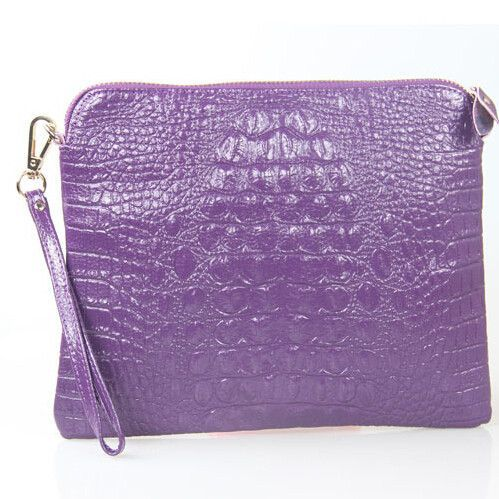 Mila Genuine Leather Crocodile Shoulder Bag