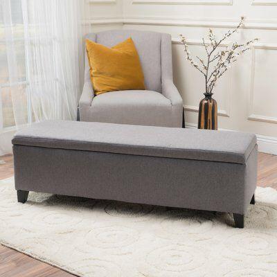 Schmit Upholstered Storage Bench | 2020 | Bedroom storage ...