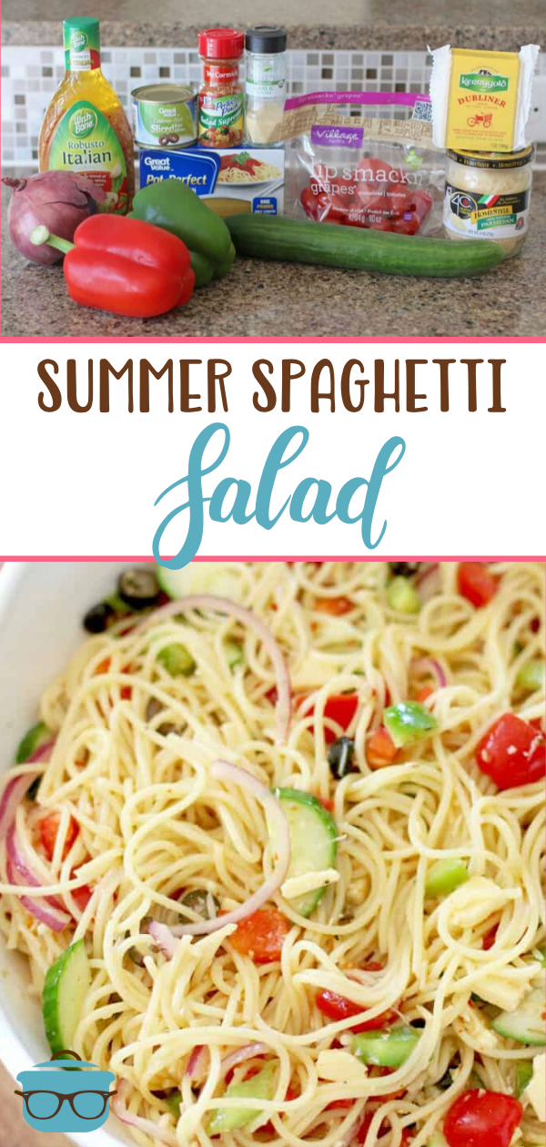 SUMMER SPAGHETTI SALAD (+Video) | The Country Cook