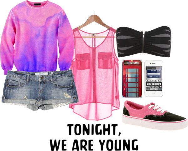 """""""Tonight, we are young."""" by damn-imflawless ❤ liked on Polyvore"""