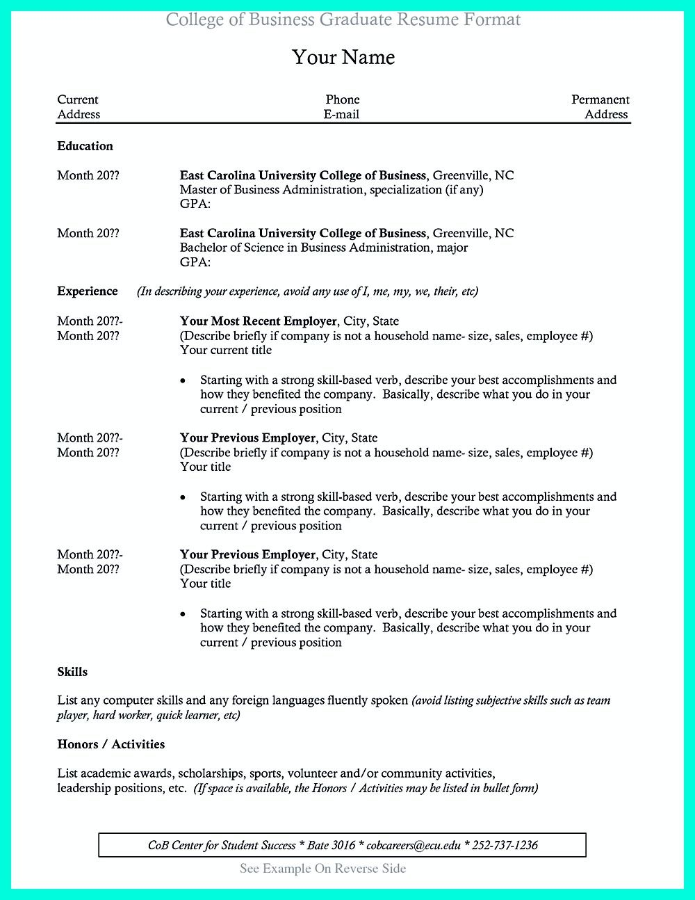 College Student Resume Can Be Really Challenging As This Can Be The