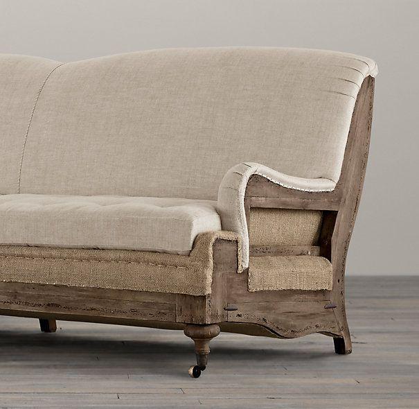 Deconstructed English Roll Arm Sofa French Sofa Modern