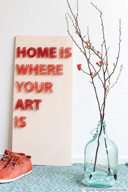 Nagel bild home is where your art is basteln und diy - Nagelbilder selber machen ...