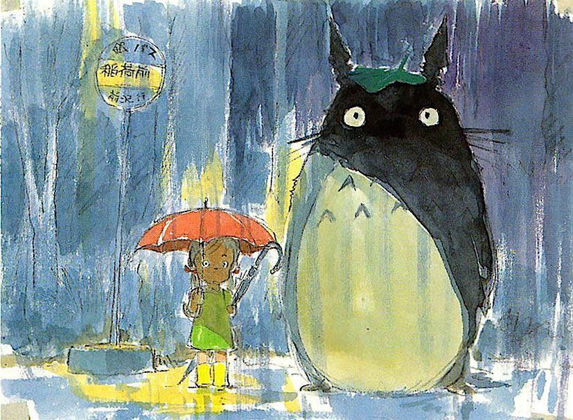 Film My Neighbor Totoro Scene The Bus Stop Les Arts