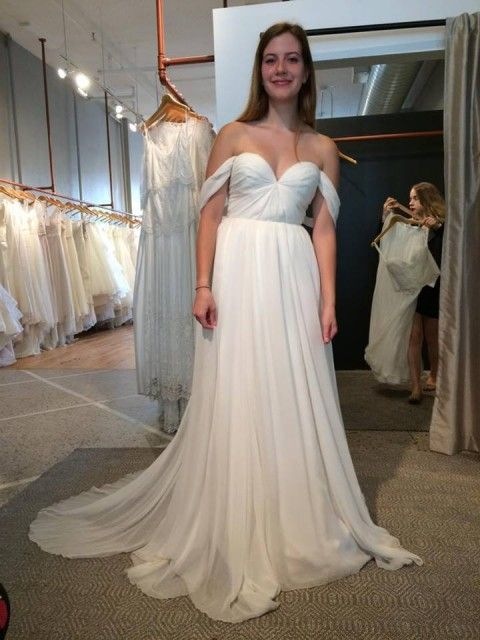 New Sarah Seven Lafayette Wedding Dress