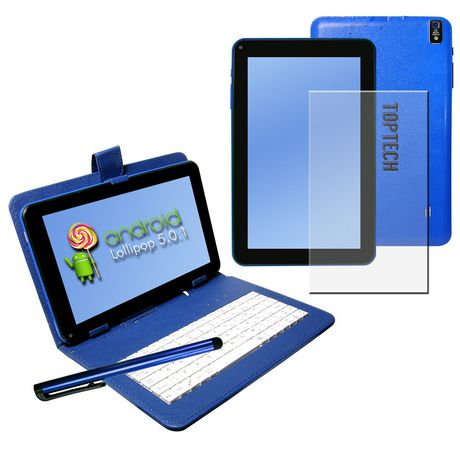 """Top Tech Audio 9"""" Android Tablet Pc Blue Blue 9 In"""