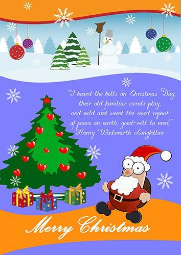 Create amazing Christmas poster with RonyaSoft poster creator from - christmas poster template