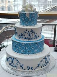 Blue Unique Elegant Modern And Traditional Wedding Cake Designs