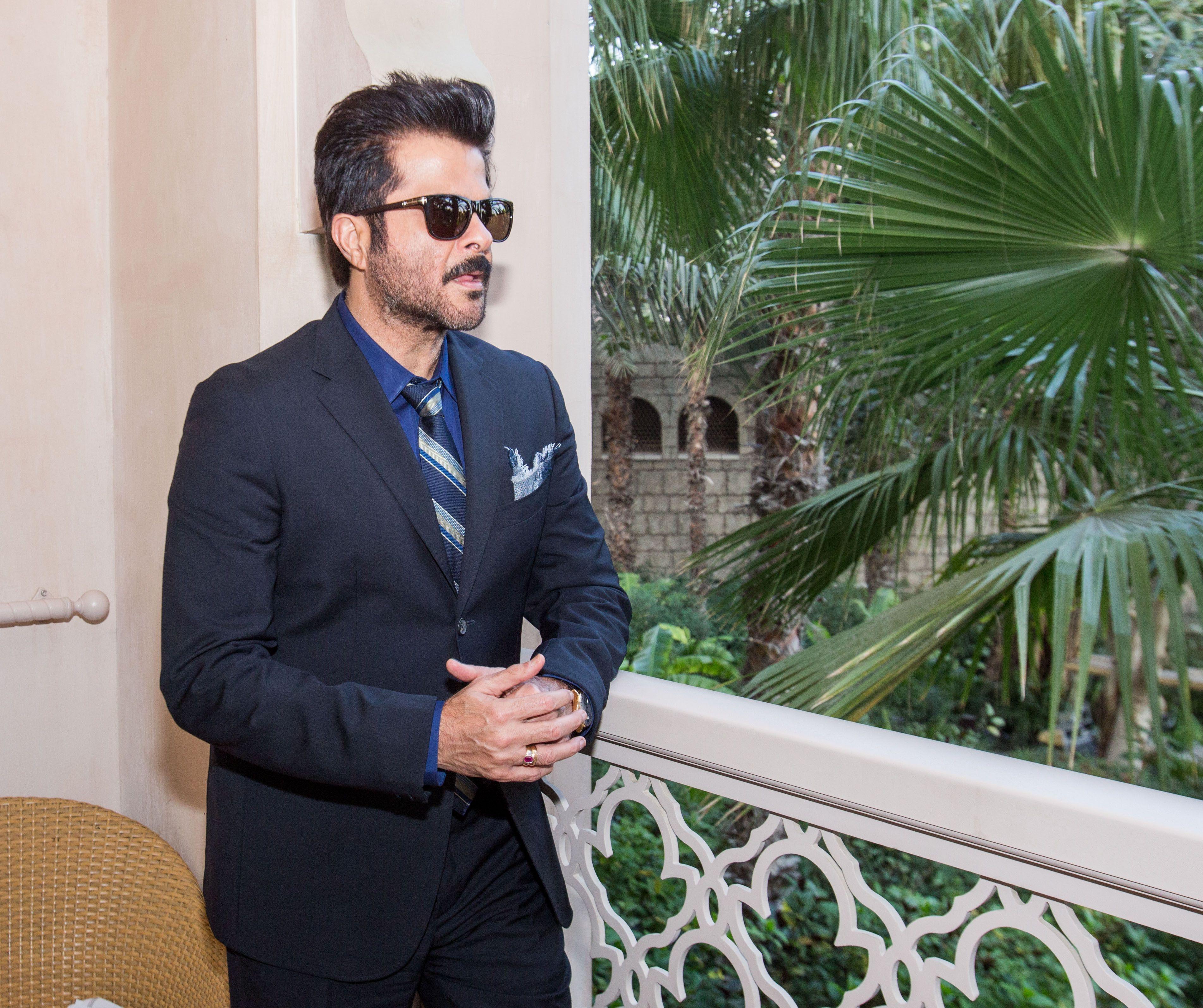 bedccb1b035 Anil Kapoor wearing  Montblanc MB502S01N  sunglasses.  Fashion  Eyewear   celebrity