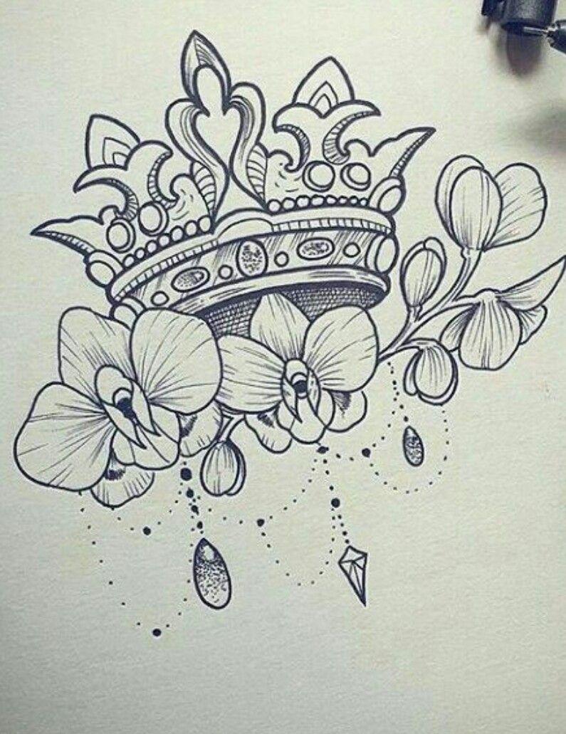 Pin By Nita Zazweta On Crowns Jewel Tattoo Flower Tattoo