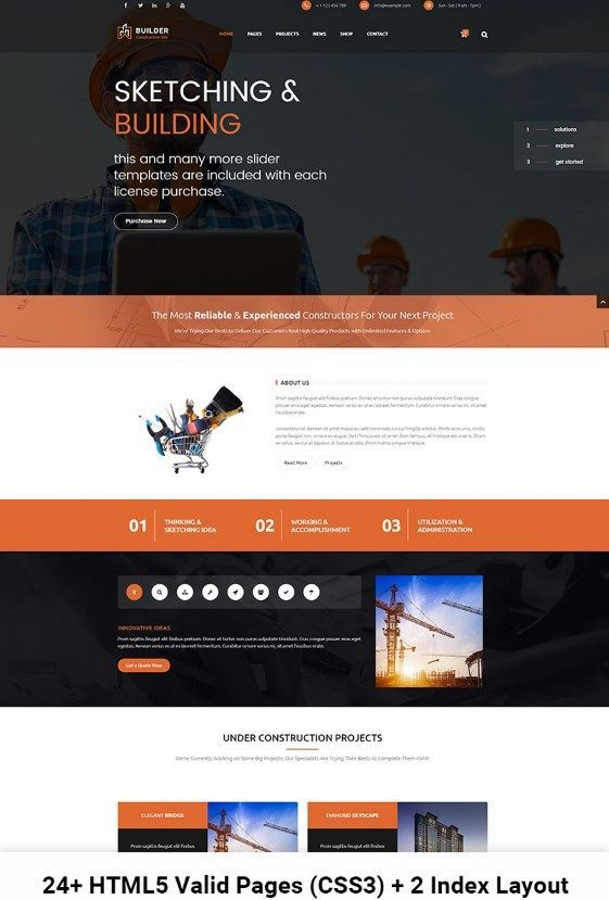 Builder - Construction and Building HTML Website Template #HTML #HTML5 #businesswebsite #constructionbusinesswebsite #buildingcompanywebsite #corporatewebsite https://www.templatemonster.com/website-templates/builder-construction-and-building-html-website-template-67401.html/