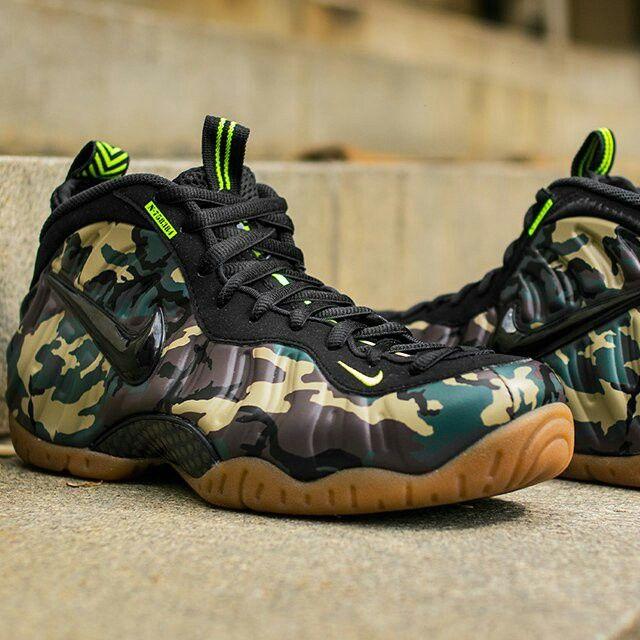 Camo shoes, Air foamposite pro, Nike air