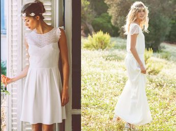 Robe blanche pour le mariage