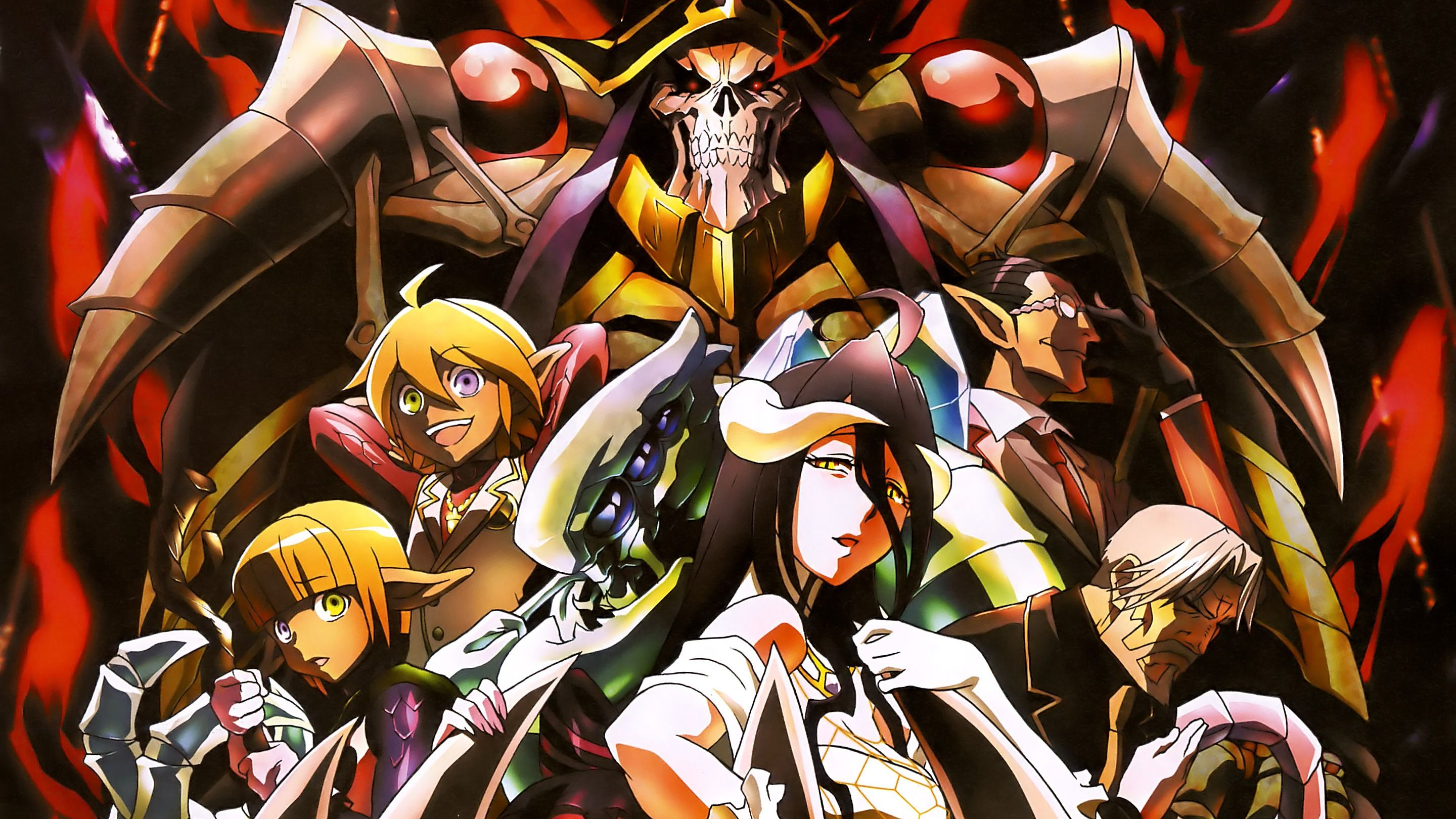 Overlord Anime Ainz Ooal Gown Wallpaper HD 2880x1620 Anime