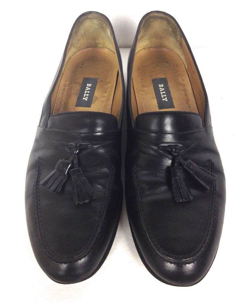 eb896d4ac Bally Shoes Men's Black Leather Dress Loafers 9.5 B #Bally #LoafersSlipOns