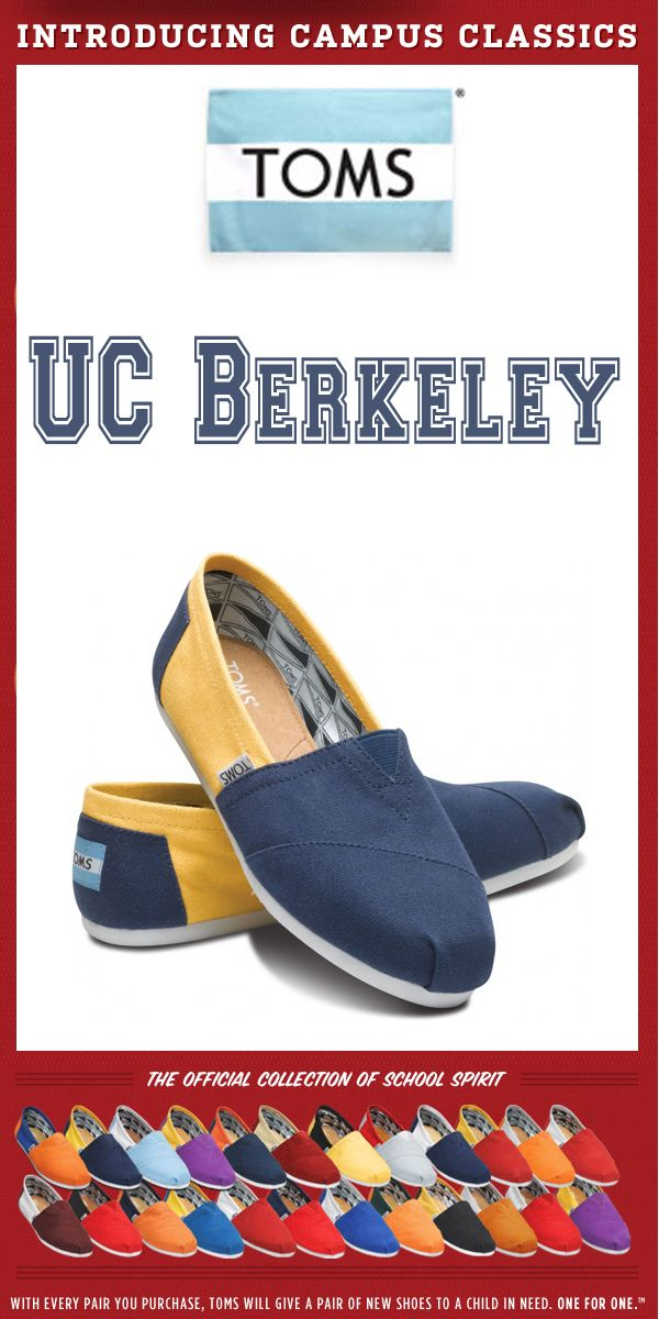 1b4db605f90 TOMS Shoes UC Berkeley Campus Classics - One for One