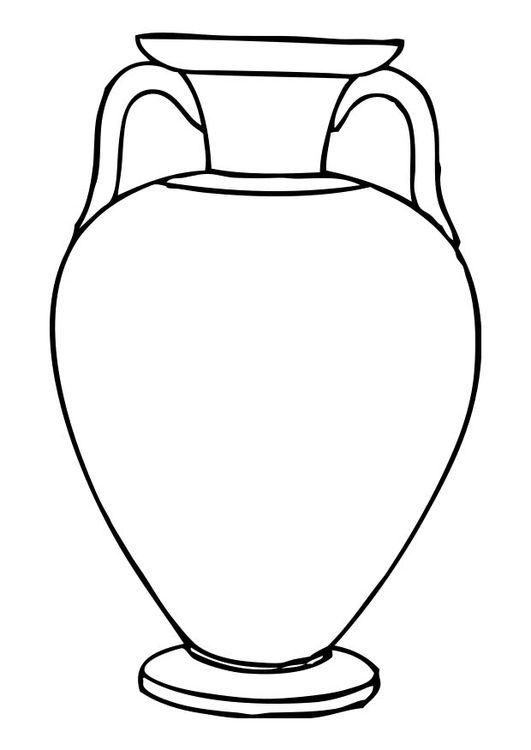 Coloring Page Amphora Oude Griekse Kunst Romeinse Kunst
