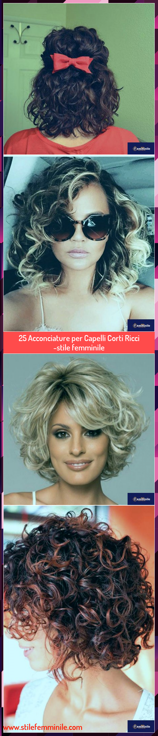 25 Acconciature per Capelli Corti Ricci -stile femminile ...