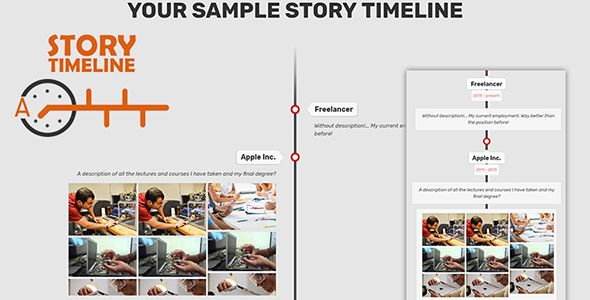 cool Sample Story TIMELINE (Miscellaneous) ThemeForest - sample business timeline