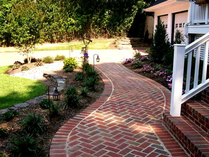 Front Yard Landscaping Ideas With Bricks Sidewalk Landscaping Brick Pathway Walkway Landscaping