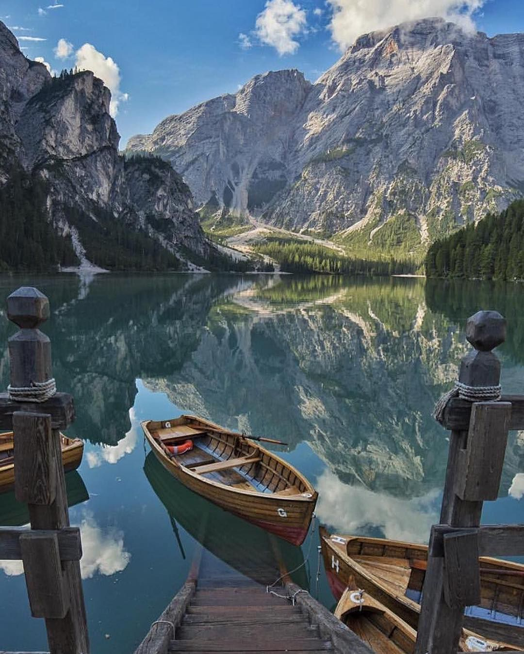 Lago di Braies in Italy. If you don't design your own life plan, chances are you'll fall into someone elses plan. And guess what they have planned for you? Not much. Chase your dreams by day, don't take a century long powernap. Explore that world. Courtesy of @elcampa1969!