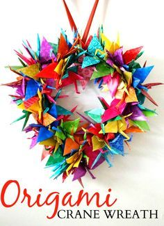 Origami Crane Wreath Craft Tutorial | SavingSaidSimply.com