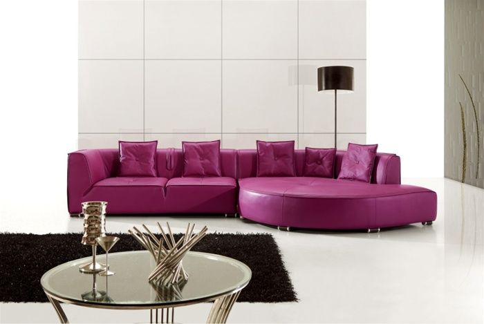 Perhaps Not Purple Lol But Great Design Purple Furniture Modern Sofa Sectional Leather Sectional Sofas
