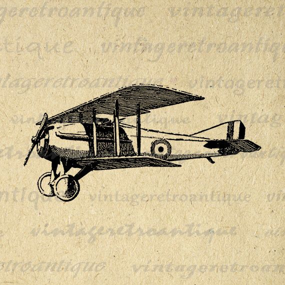 Classic Airplane Graphic Printable Airplane Digital Image Download Antique Plane Vintage Digital Plane Artwork Jpg Png Eps HQ 300dpi No.126 by VintageRetroAntique on Etsy https://www.etsy.com/listing/106150478/classic-airplane-graphic-printable