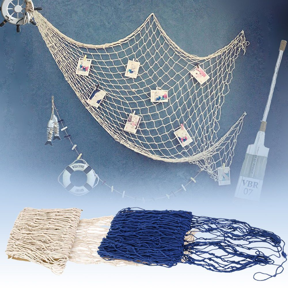 Details About Mediterranean Style Nautica Fishing Net Decoration Fish Netting For Home Party Fish Net Decor Fishing Net Wall Decor Fishnet