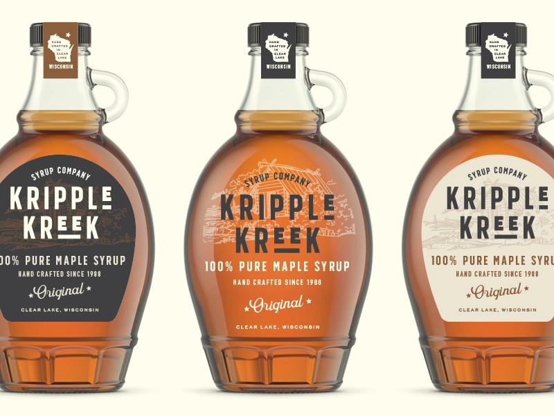 Kripple Kreek Labels Maple Syrup Labels Maple Syrup Bottle Labels Syrup Labels