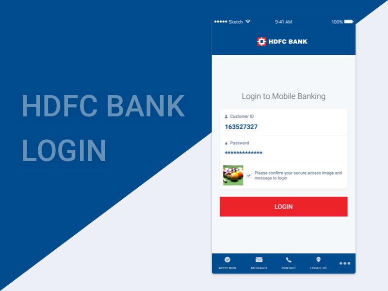 Hdfc Bank Login Redesign Redesign Login Messages