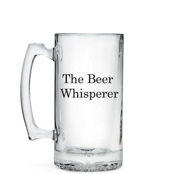 Beer Whisperer Beer Mug 26 5oz Beer Stein By Vinylvineyardct