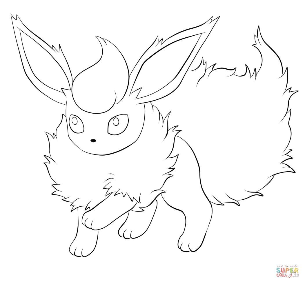 Flareon Coloring Page From Generation I Pokemon Category Select 27278 Printable Crafts Of Cartoons Nature Animals Bible And Many More